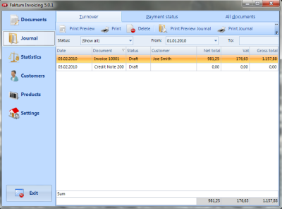Click to view Faktum Invoicing 5.4.7 screenshot