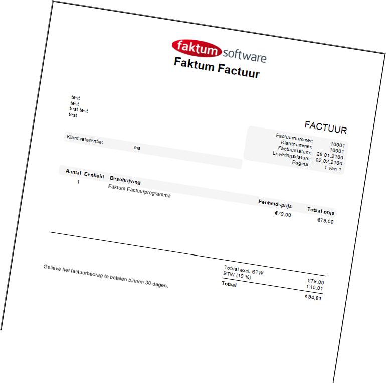 factuurprogramma - factuur software - facturatiesoftware